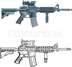 236x221 Classic M16 Rifle