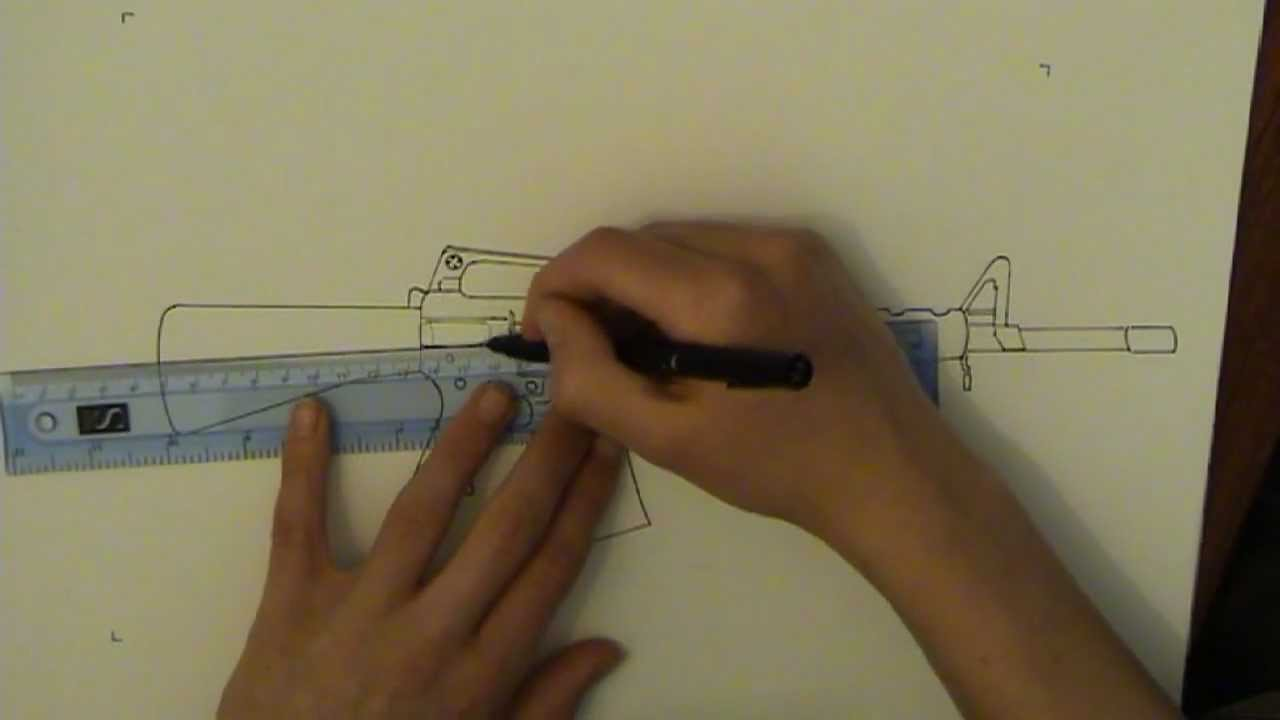1280x720 How To Draw M16