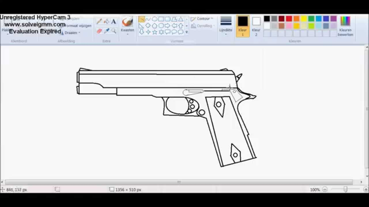 1280x720 Draw The M1911 In Paint
