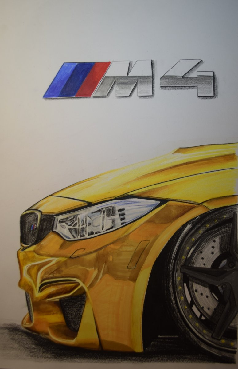 775x1200 Bmw M4 Detail Munich Car Drawing