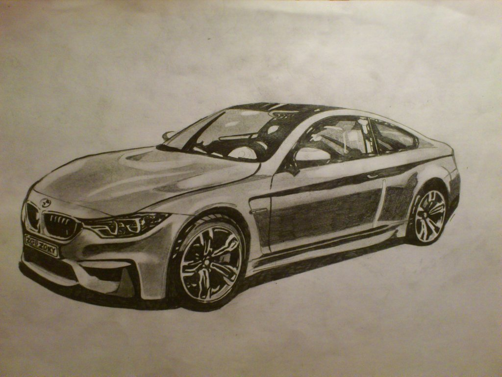 1024x768 Bmw M4 Drawing By Zoky88