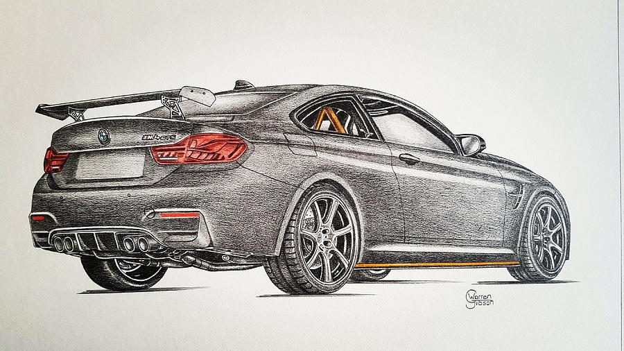 900x506 M4 Gts Drawing By Warren Gibson