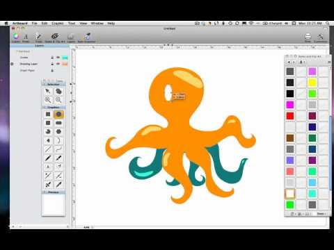 480x360 Freehand Vector Drawing With Artboard (Mac Osx)