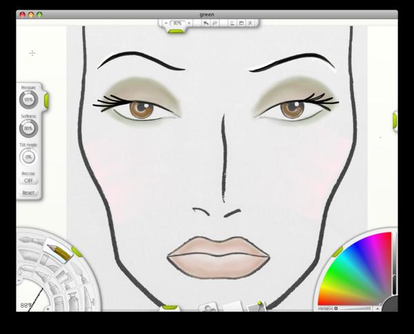 600x485 Mac Face Chart + Drawing Tablet + Art App = Fun!