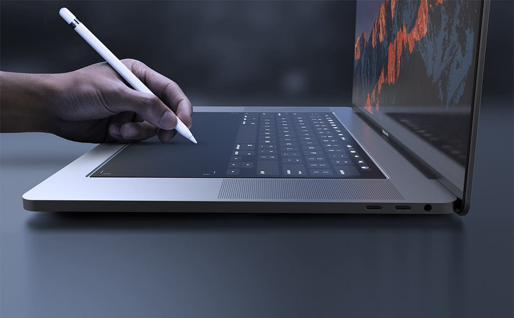 1050x650 Crazy Macbook Pro Concept Replaces Keyboard With A Yuuuuuuge