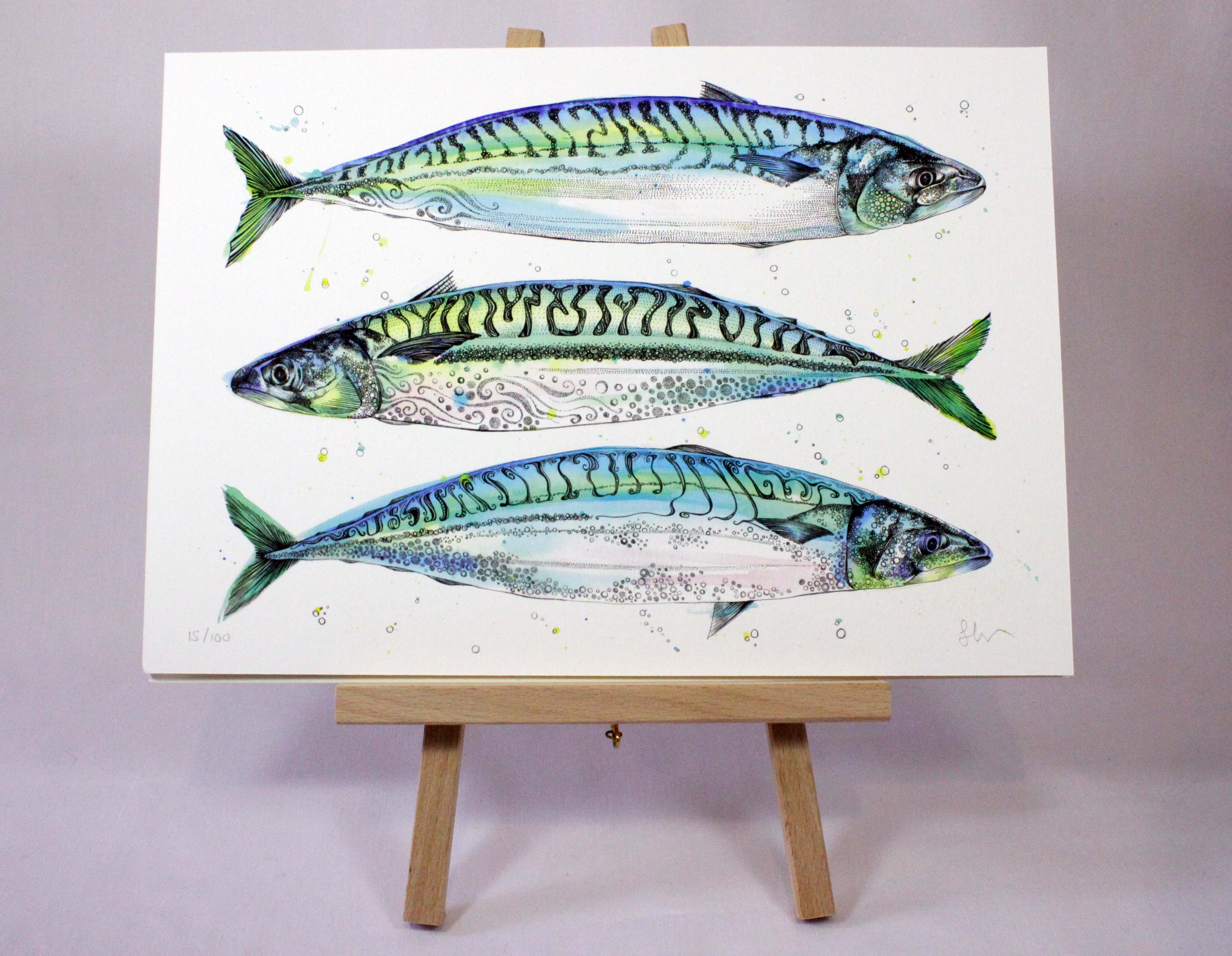 4328x3360 Triple Fish Limited Edition Fine Art Print Sophie Cunningham