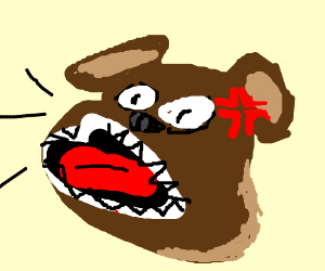 300x250 Barking Mad Dog (Drawing By Roguefishstick)