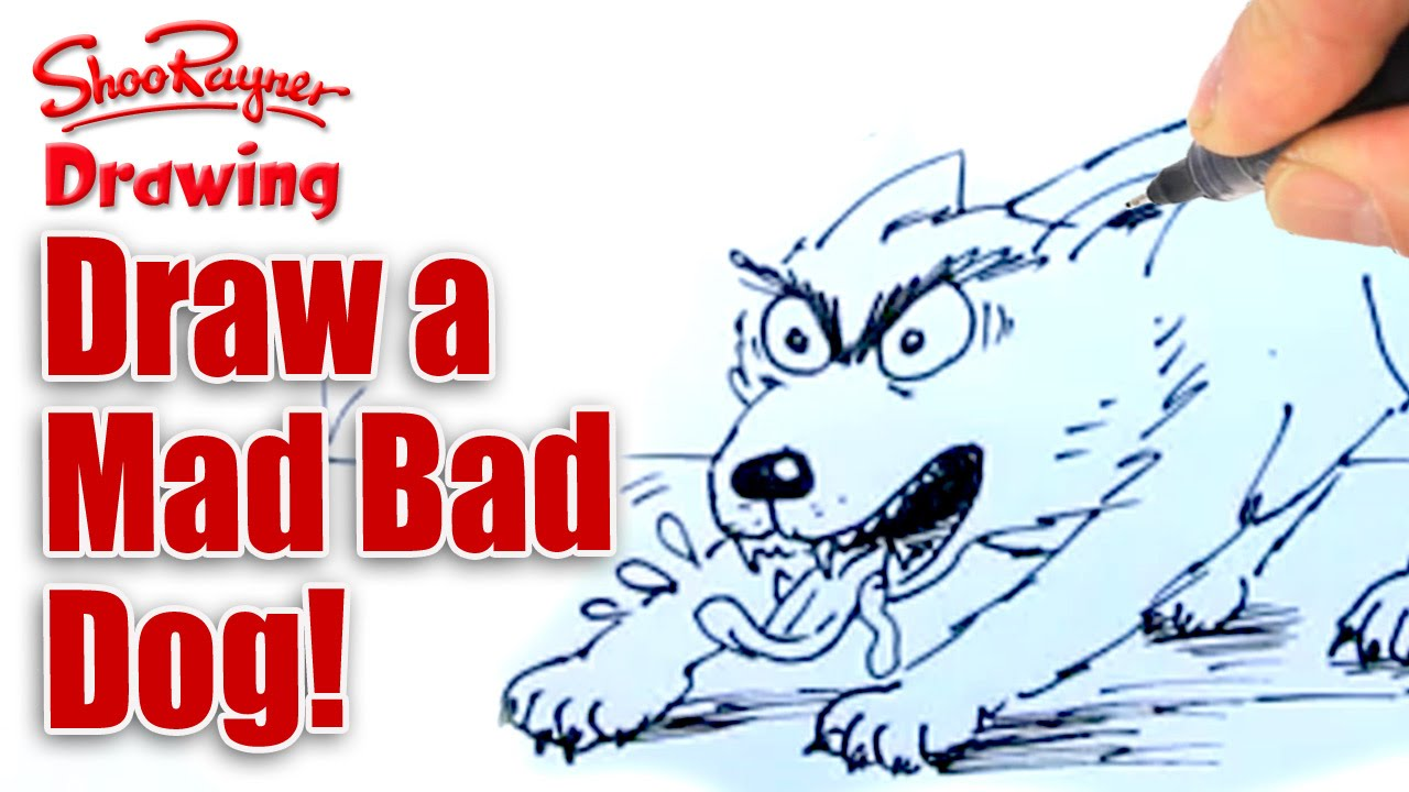 1280x720 How To Draw A Mad, Bad, Evil, Slavering Dog!