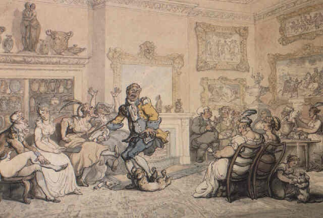 640x433 Mad Dog In A Drawing Room By Thomas Rowlandson On Artnet
