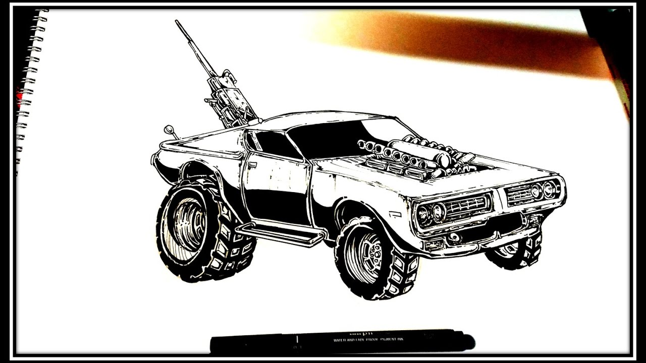 1280x720 How To Draw Mad Max Charger (Fury Road)