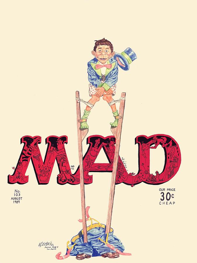 675x900 Mad Magazine Cover Drawing By William Beyer