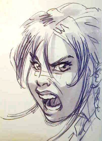 404x558 Angry Girl Face Drawing 1 Ambiguous Expressions And Furious Eyes