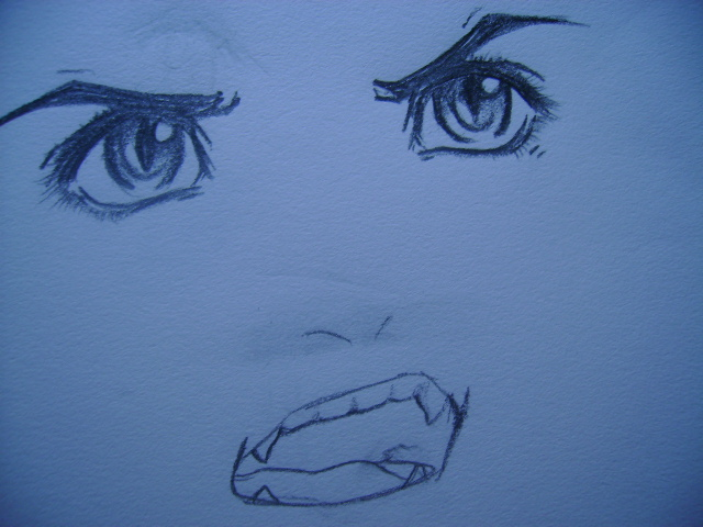 640x480 Mad Sketch Of Inuyasha's Face By Tsukiko88