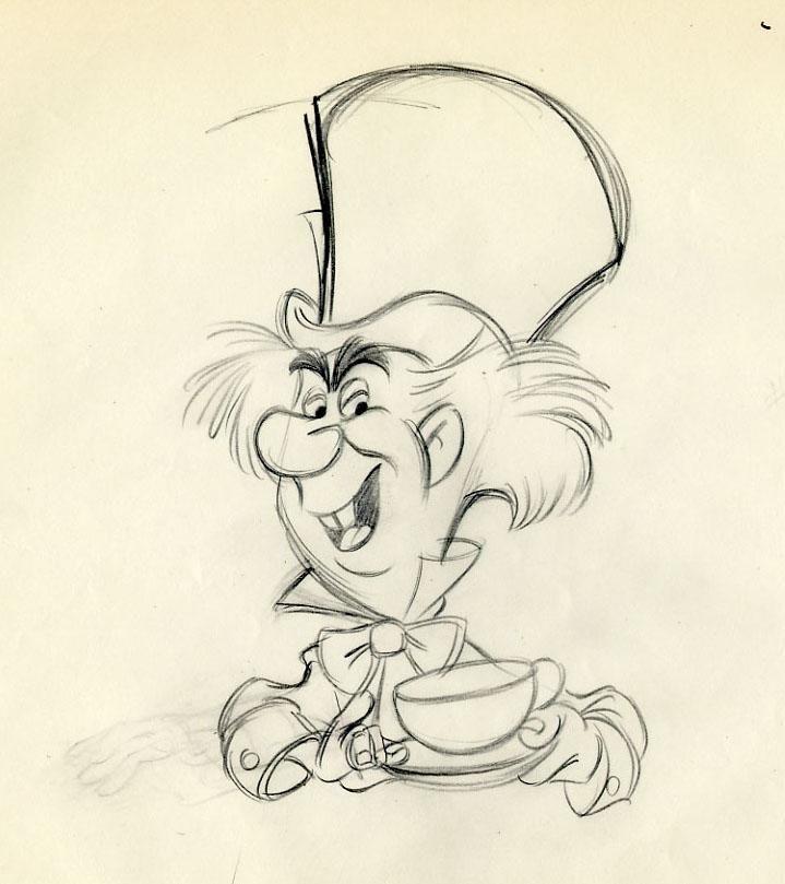 719x809 Disney Alice In Wonderland John Lounsbery Scene Animation Drawing