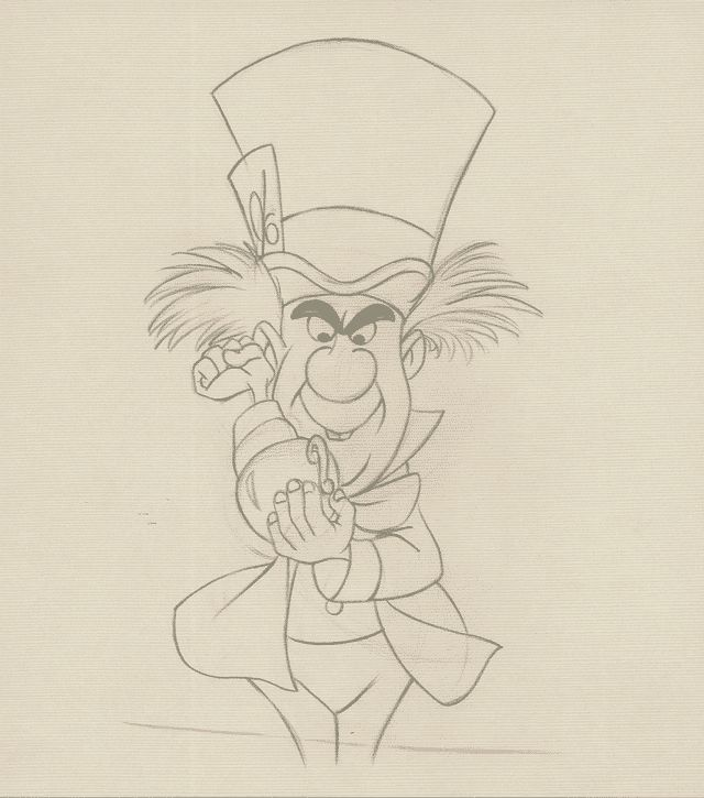 640x725 The Mad Hatter By Milt Kahl