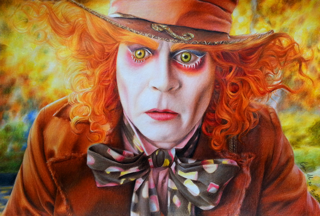 1024x692 Mad Hatter Drawing By Can727