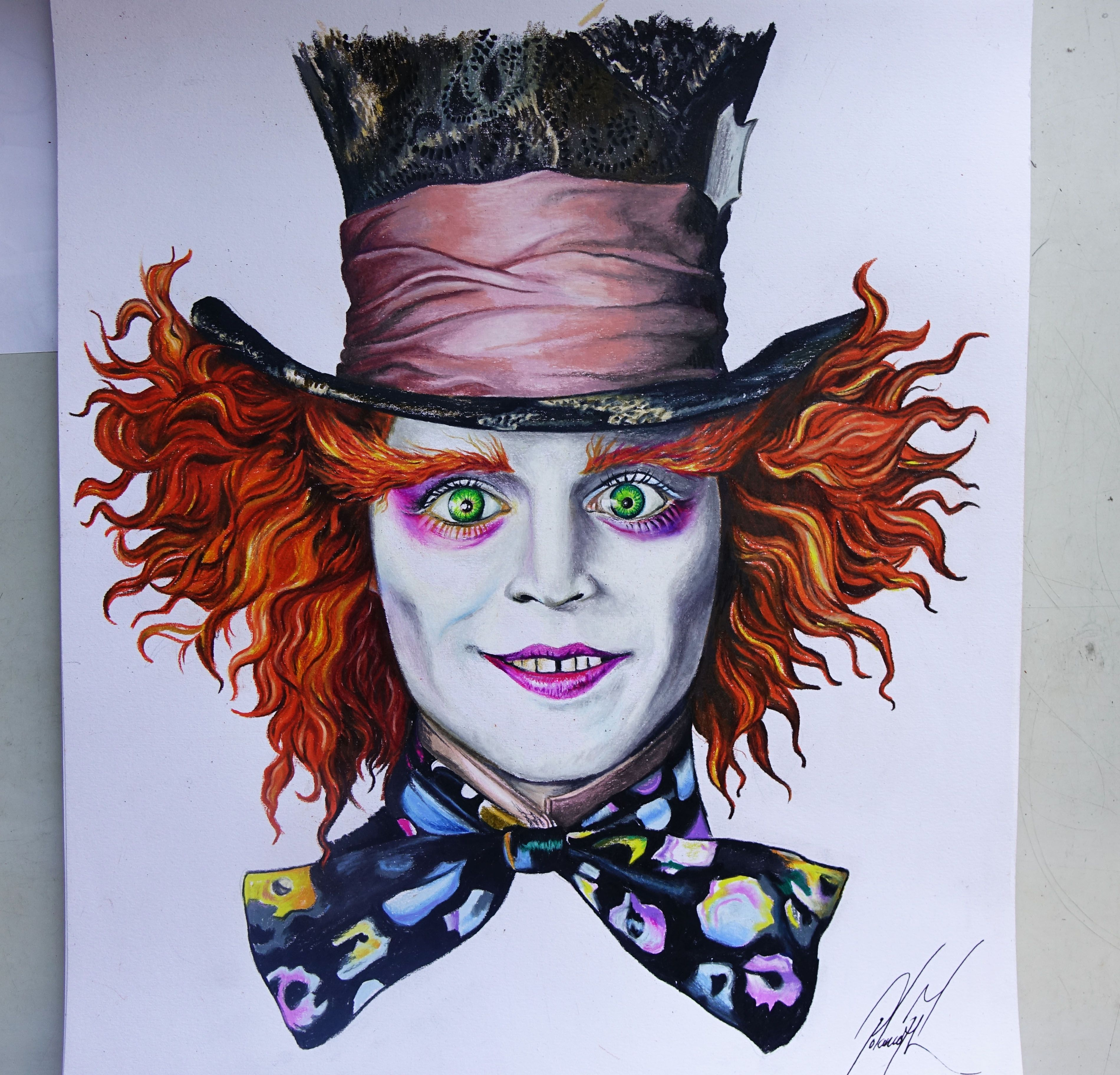 3800x3648 Sombrerero Loco The Mad Hatter Alice In Wonderland Creyones