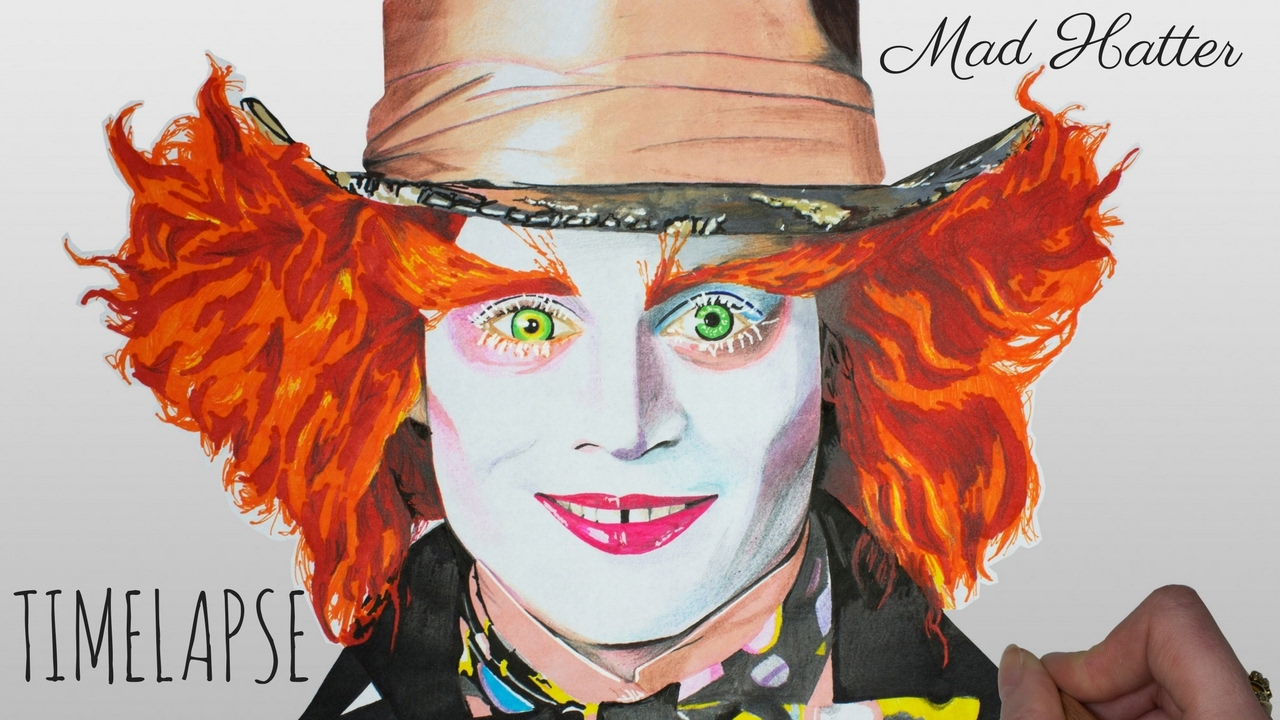 1280x720 Speed Drawing The Mad Hatter