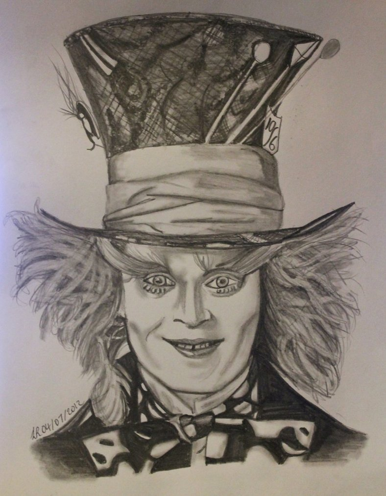 788x1013 Johnny Depp The Mad Hatter By Lu Siobhan