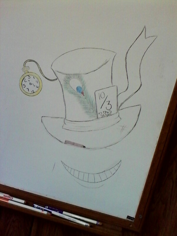 600x800 My Mad Hatter Hat Drawing My Drawings Mad Hatter