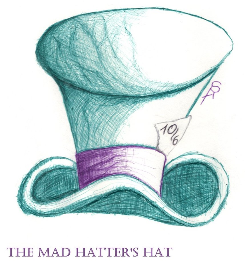 858x932 Mad Hatter's Top Hat Coloring Pages Mad Hatter's Hat By Serafine