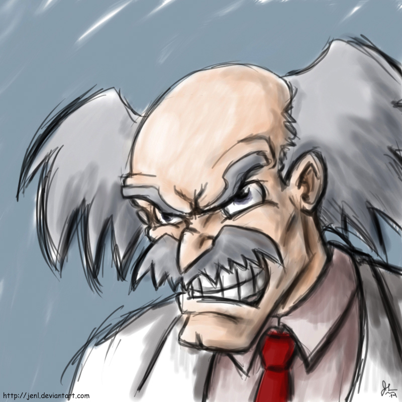 800x800 Angry Mad Scientist By Jenl