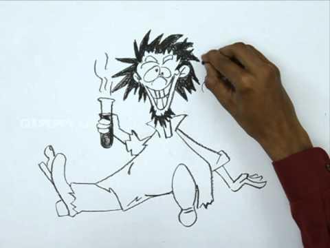 480x360 How To Draw A Mad Scientist