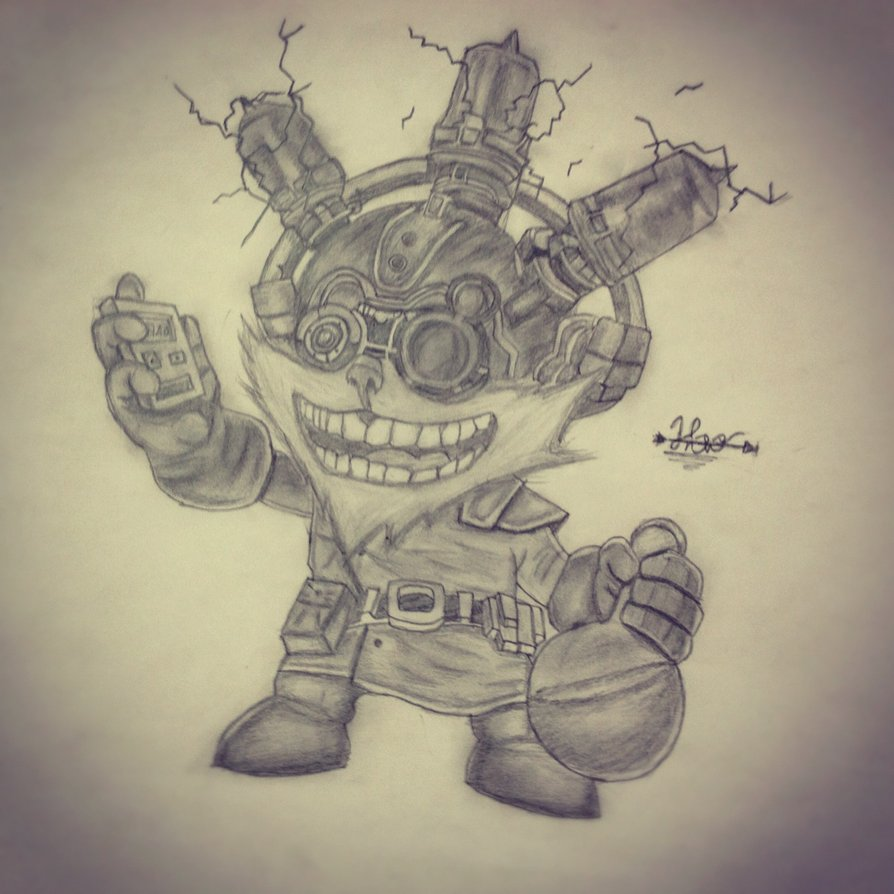 894x894 Mad Scientist Ziggs League Of Legends By Droxory