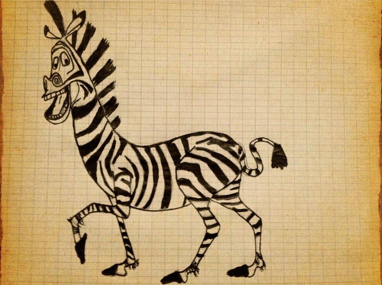 1224x913 How To Draw Zebra Marty Madagascar