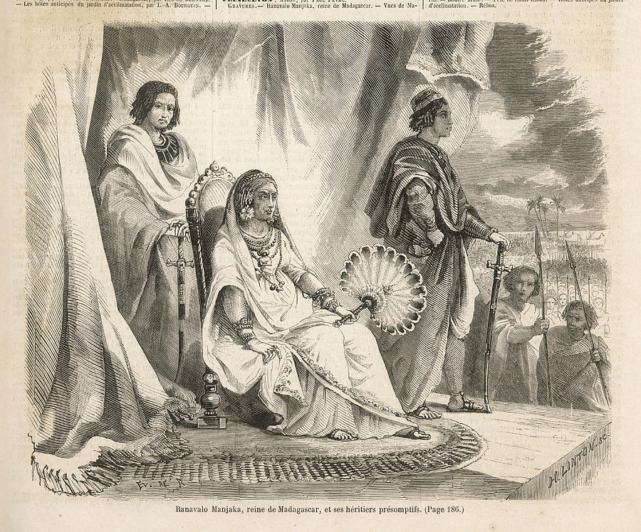 900x748 Ranavalona I Queen Of Madagascar Drawing By Mary Evans Picture Library