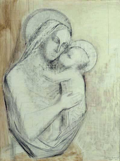 398x532 Madonna And Child By Barbara Hepworth