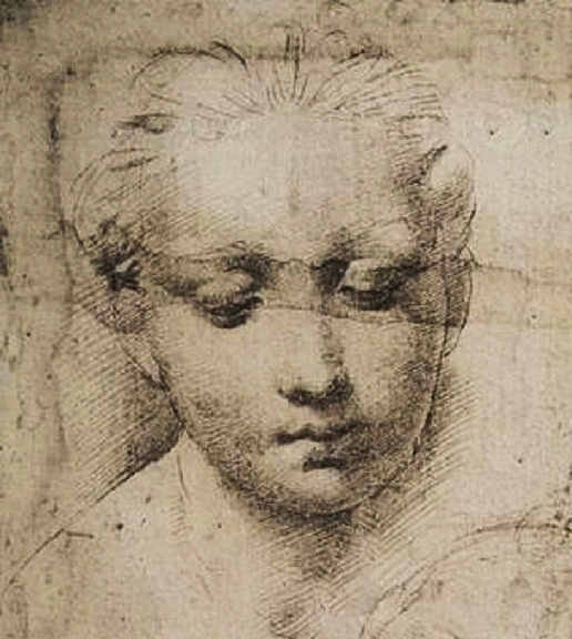 516x576 Madonna And Child Drawing (Detail), Raphael