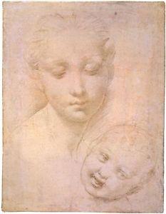 233x300 Renaissance Drawing Raphaelmadonna Amp Child Art Print Ebay