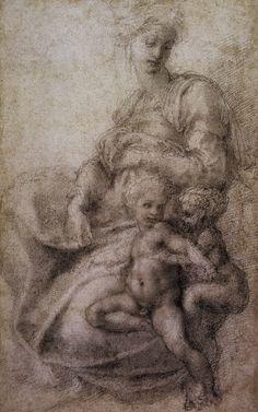 236x377 St Catherine Sketch By Michelangelo Buonarroti