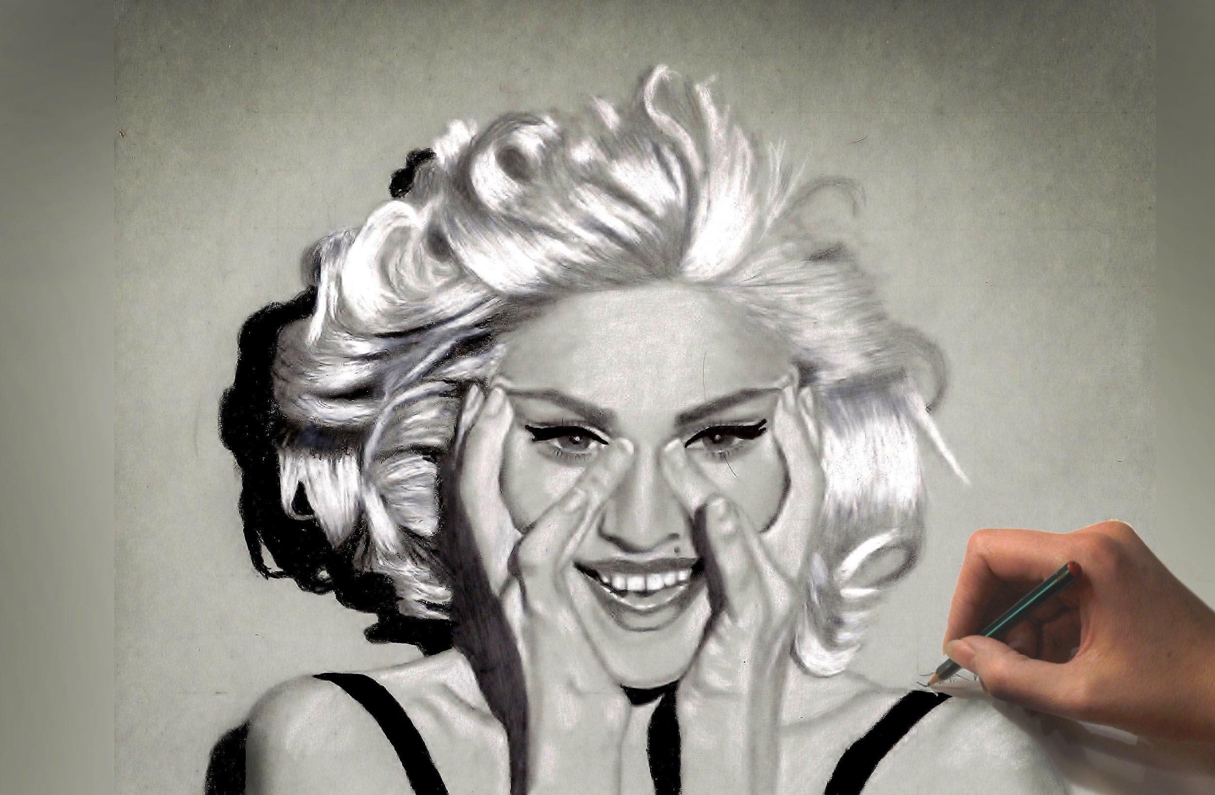 2468x1616 Drawing Madonna