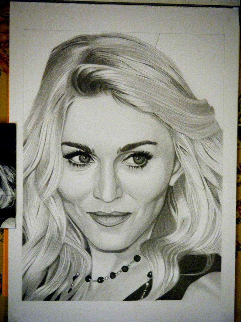 768x1024 Drawing Madonna 9 By Sivine