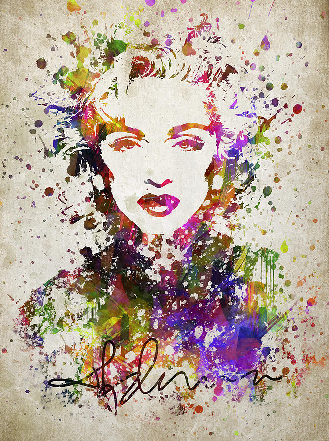 672x900 Madonna In Color Digital Art By Aged Pixel