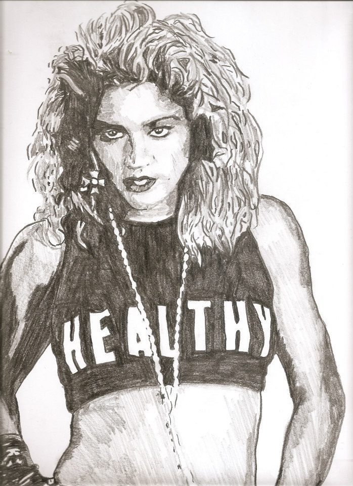 698x960 Madonna Drawing By Sbdrawings