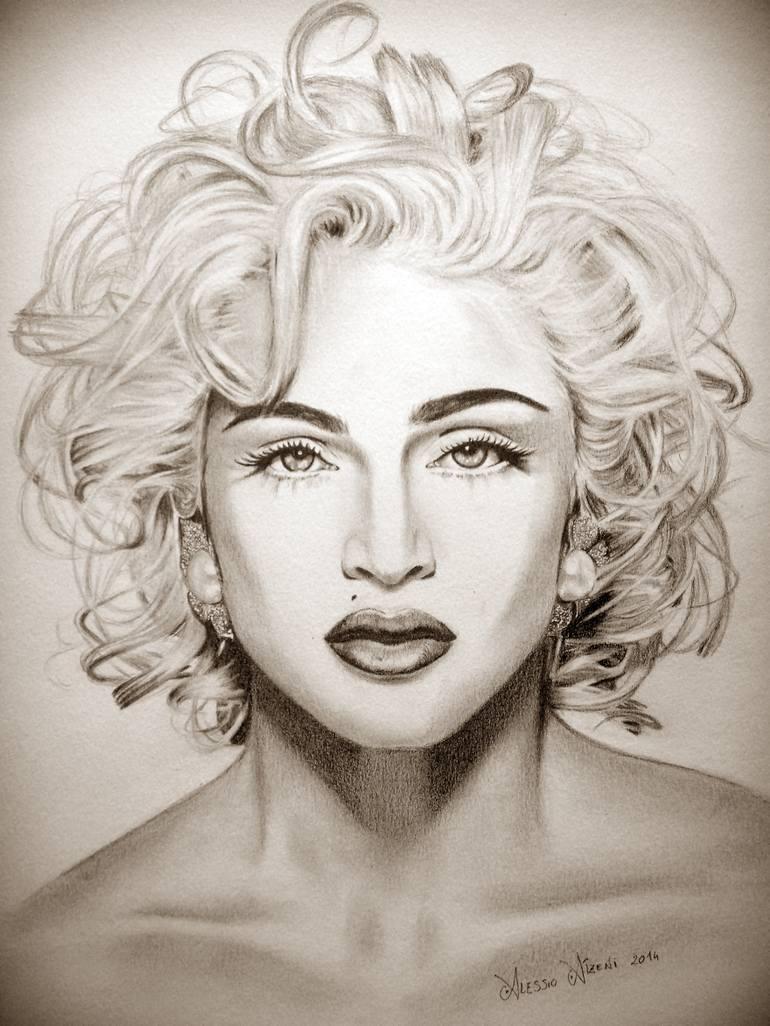 770x1026 Saatchi Art Madonna Drawing By Alessio Atzeni