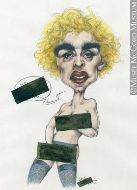 279x385 Madonna Cartoon M996.10.574 Madonna Drawing, Cartoon Serge