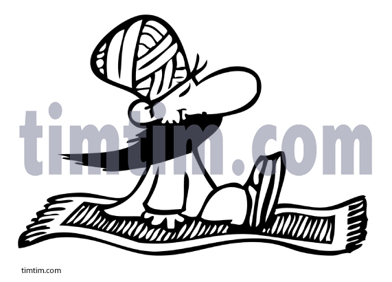 571x410 Free Drawing Of Flying Carpet Bw From The Category Holidays