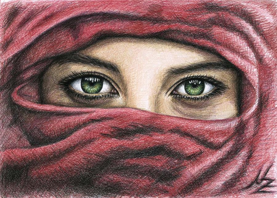 900x643 Eyes Magic Drawing By Nicole Zeug