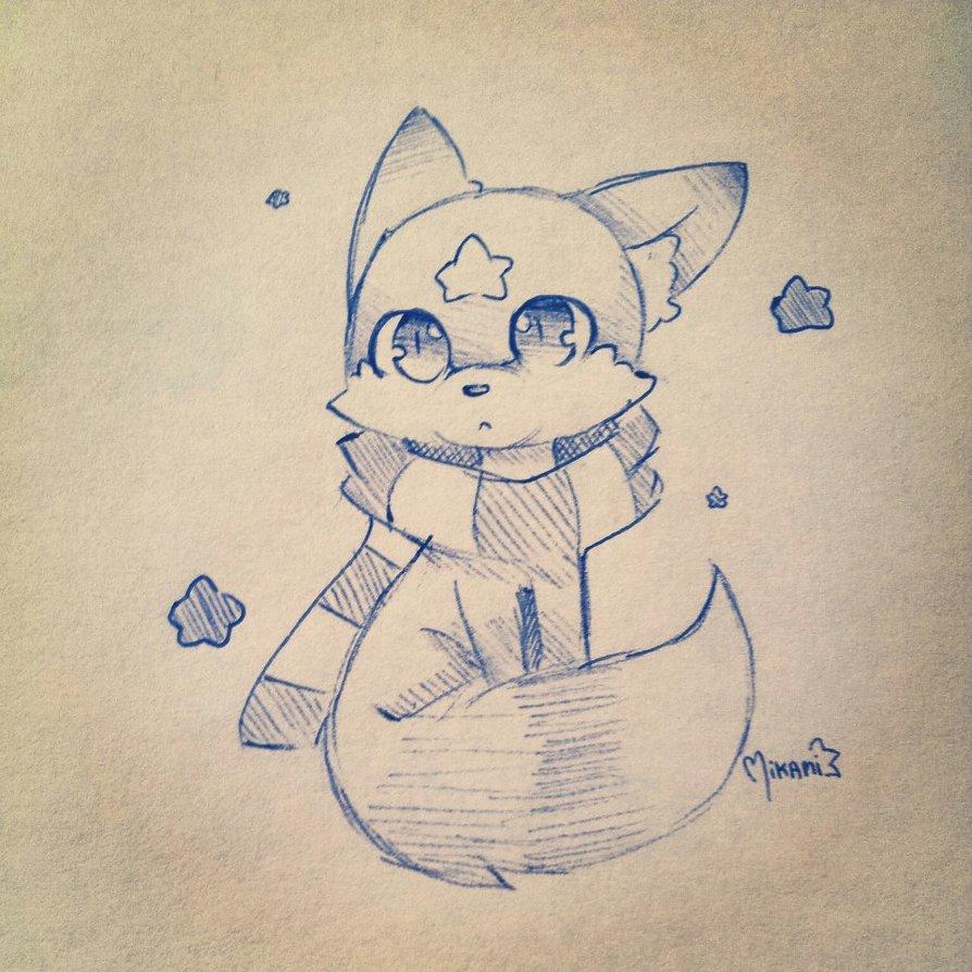 894x894 Magic Fox By Mikami Drawing