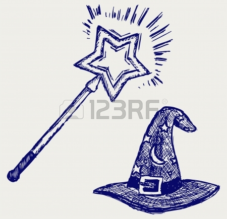 450x435 Magic Hat Doodle Style Royalty Free Cliparts, Vectors, And Stock