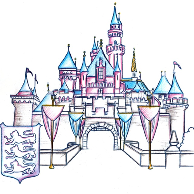 640x640 Disneyland Castle Drawing