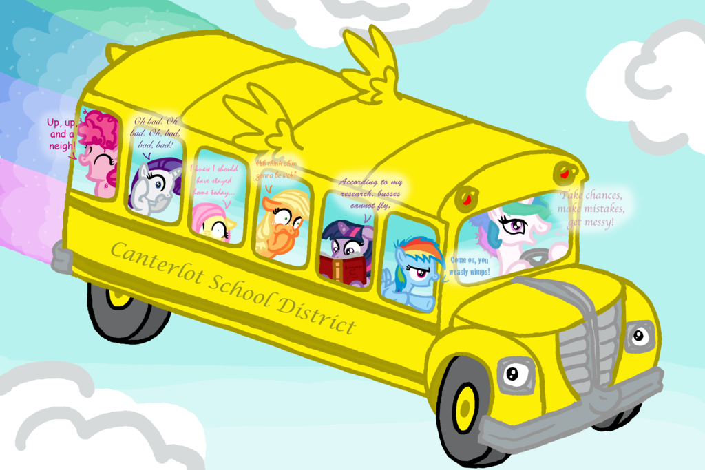 1024x683 Friendship Is Magic School Bus By Inkrose98
