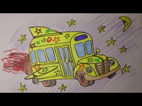 480x360 How To Draw Magic School Bus Easy Mr. Cute Cartoon Drawing Club