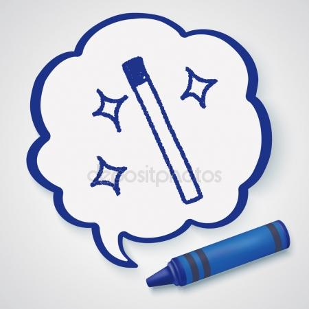 450x450 Magic Wand Doodle Drawing Icon Element Stock Vector Hchjjl