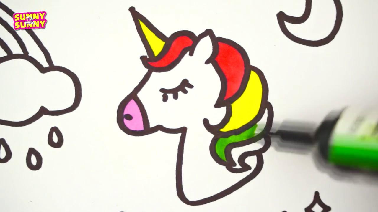 1280x720 P2 How To Draw Colorful Stickers Rainbow, Unicorn, Stars, Magic