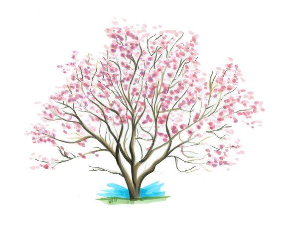 570x456 Custom Art, Landscape Drawing, Tree Art, Copic Marker Landscape
